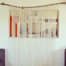 some final touches needed bohemian 70s macrame curtain with