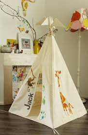amazing kid bedroom decoration using animal kid teepee tent