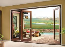 Wood Sliding Glass Patio Doors 4 Panel Sliding Glass Patio Doors I46 On Brilliant Home Design
