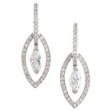diamond earrings on sale modern bridal marquise diamond earrings for sale at 1stdibs