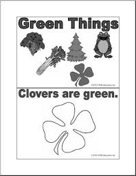 green coloring page coloring pages green things booklet b w abcteach
