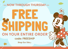 disney store free shipping plus 40 promo code for sale