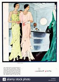 vintage cocktail party illustration cocktail party 1930 french fashion magazine illustration elegant