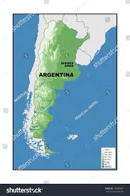 physical map of argentina physical map argentina stock illustration 148309037