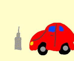 the world u0027s biggest car crashes into building drawing by frazzl