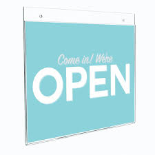 wall mounted sign holder wall mount sign holder paper insert acrylic buy magnetic sign