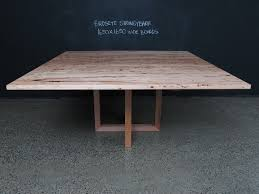 modern timber dining tables double u base square timber table christian cole furniture