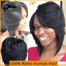 layered bob haircut african american human full lace wigs brazilian hair layered bob wig 14 inch short