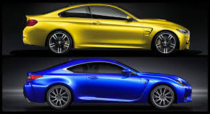 lexus rc f coupe bmw m4 vs lexus rc f which coupe would you take w poll