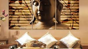 Buddha Room Decor Sweet Idea Buddha Wall With Printed Painting Statue Room Decor