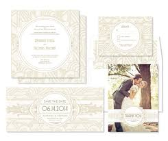 wedding style inspiration art deco wedding invitations