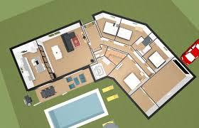 plan de maison en v plain pied 4 chambres charmant faire un plan de maison en 3d 4 avis plan maison plain