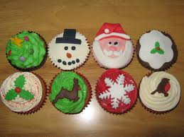 christmas cupcakes vanilla sponge and buttercream with handmade