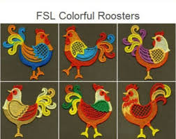 standing rooster etsy