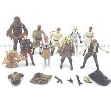 lot 10x star wars chewbacca han solo yoda kit fisto action figure