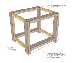 Farm Blueprints Ana White Rustic X End Table Diy Projects