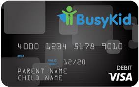 prepaid credit cards for kids busykid visa prepaid spend card busykid