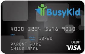 pre paid card busykid visa prepaid spend card busykid