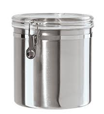 kitchen canisters stainless steel amazon com oggi 150 ounce stainless steel airtight canister with