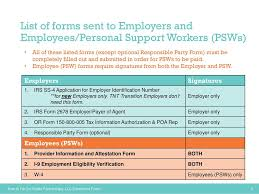 employers individuals and personal support workers psws