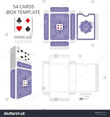 Standard Invitation Card Sizes Poker Card Size Tuck Box Templatevector Stock Vector 449285782