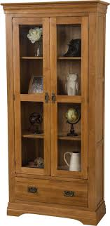 solid oak china cabinet french chateau oak display cabinet free uk delivery