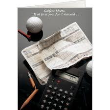 golfer u0027s motto golf humor card golf greeting cards pinterest