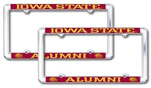 michigan state alumni license plate frame isu alumni association state t shirts