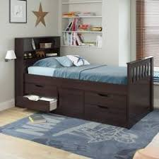 coaster furniture la salle twin captains bed with trundle and