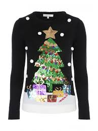 christmas tree jumper with lights womens black christmas tree jumper peacocks