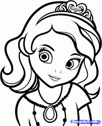 draw sofia step step disney characters