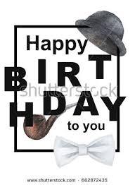 birthday card man happy birthday you stock illustration 662872435