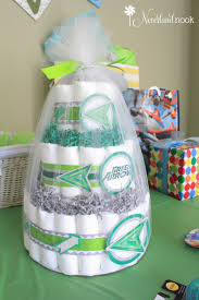 a fun green arrow super hero themed baby shower neverland nook
