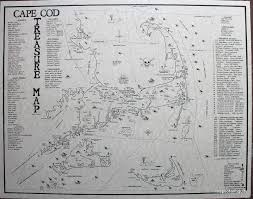 cape cod treasure map hand drawn u0026 reproduced by a cape cod