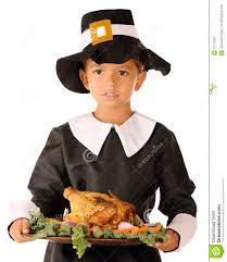 pilgrim boy serving the thanksgiving feast stock image image