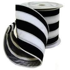 black and white striped ribbon houndstooth etsy and ribbons on