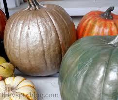 spray painted metallic pumpkins take halloween pumpkins into