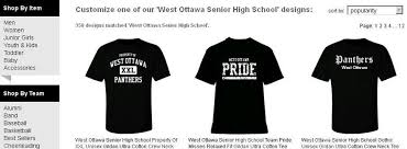 high school senior apparel west ottawa senior high school apparel store mi home