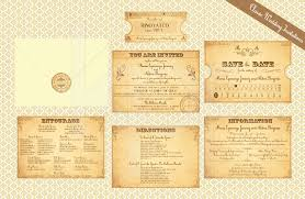 vintage train ticket 01 classic wedding invitation kalidad
