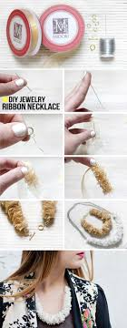 make ribbon necklace images My diy ribbon necklace jpg