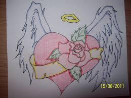 heart tattoo u2013 awesome biomechanical sketch tattooshunter com