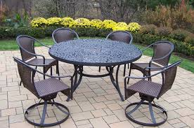 Stackable Wicker Patio Chairs Oakland Living Patio Dining Set 60