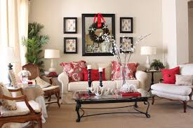 magnificent living room christmas decorating brwon wood and black
