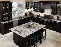 kitchen brown tile flooring stainless wall mount sinks black