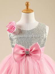 pink sparkly sequin tulle girls party dress cheap sequin dresses