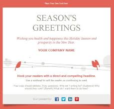 exciting seasons greetings email template free classy christmas