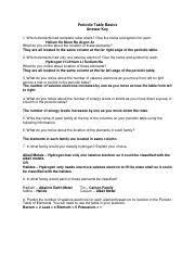 periodic table basics answer key periodic table basics answer key pdf periodic table basics answer