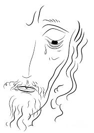 jesus christ drawing by michal boubin