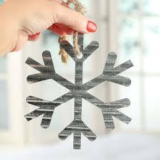 corrugated galvanized metal snowflake ornament