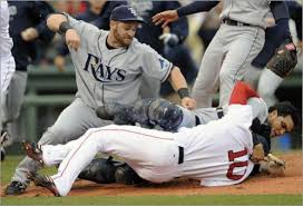 Yardwork Red Sox Indians Brawl - yardwork indians are streaking joba chamberlain mets fan the
